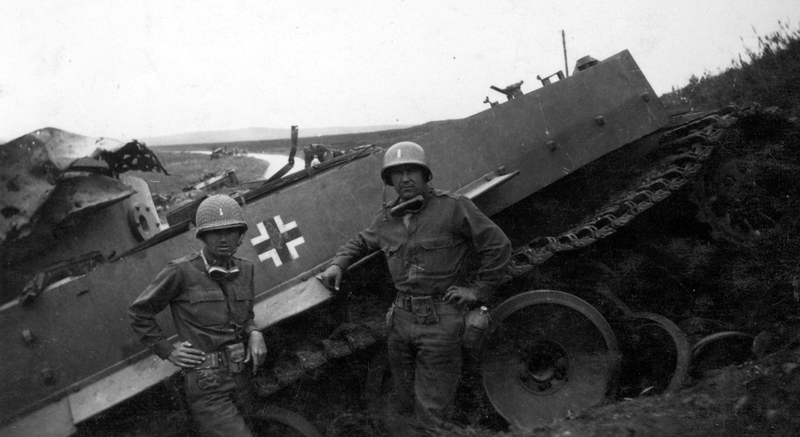 Destroyed German Vehicle